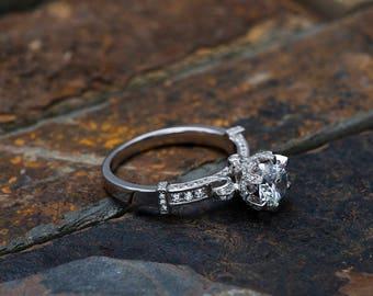 Promise Rings For Women,silver rings for women,sterling silver rings for women,vintage engagement ring set,art deco engagement ring,