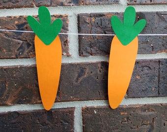 Carrot Banner, Carrot, Easter Banner, Carrot Easter Bunny Banner, Peter the Rabbit Party, Peter the Rabbit, Garden, Garden Party