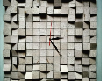 Crude wooden clock