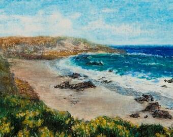 Pastel Painting, California Coast