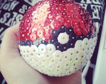 Pokeball Sequin Ornament Pokemon gift Pokémon