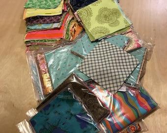Scrap bag of fabric