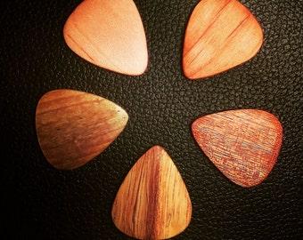 Wooden Guitar Picks (5 pack)