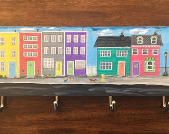 Key Holder Newfoundland Row Houses