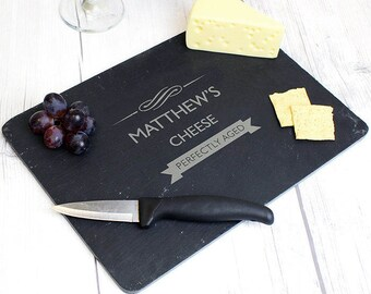 Personalised PERFECTLY AGED Slate Cheese Love Board New Home Christmas Gift Idea House Warming Fathers Day Chopping