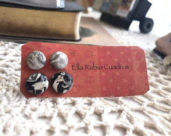 Polymer clay marble earrings