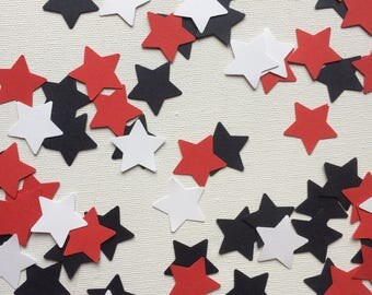 Red, White and Blue Star Shaped Table Confetti, Decor, Parties, Celebrations,