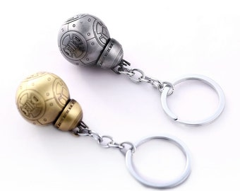 Metal Silver Colour BB-8 Star Wars Keychain