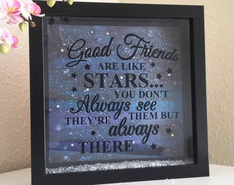 Friends gift, Best Friends Gift, Best Friends Frame, Friends Frame, Birthday Frame, Friends Birthday Gift, Gift for her, Box Frame, Friend