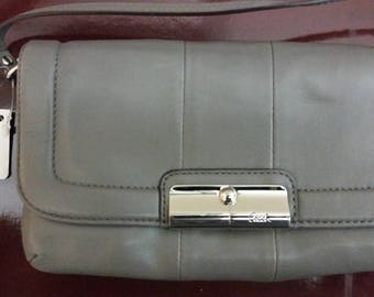 Coach Grey Mini Bag with Wristlet