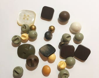 Buttons, Square Buttons, Ball Buttons, Unique Buttons, Sewing Supplies, Button Craft Supplies, Card Making Supplies