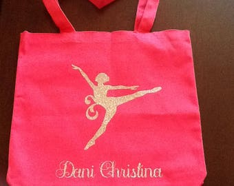 "Personalized ""Dance like nobody's watching"" bag"