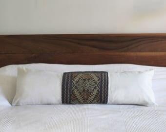 Vintage Ikat Lumbar Pillow Cover