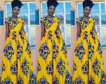 african ankara mai dress