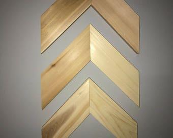 Handmade Wooden Chevron Wall Hanging