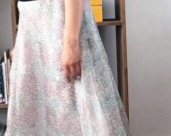 Silk Organza Versatile Floral Maxi Skirt
