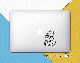 Winnie The Pooh MacBook Sticker Pooh MacBook Decal Pooh Sticker Cartoon Pooh Decal Pooh Bear Teddy Bear Disney MacBook Decal Vinyl m106