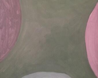 contemporary geometric circle original gouache painting