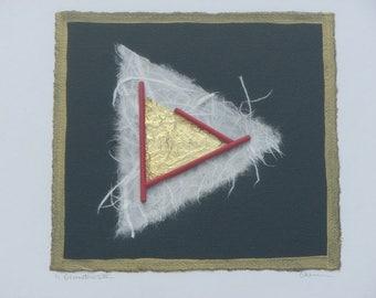 "Original Abstract Limited Vintage Print 1/1 Framed from Soicher Marin Fine Arts ""Geometrics III"""