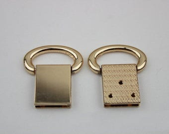 4pcs gold bag Handbag purse strap handles Connector chain Connector Screw Connector D ring O ring 40*40mm
