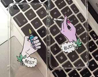 Best Buds Weed Clear Tumblr Friendship Iphone 6 Case