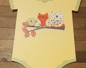 Owls Baby Shower Card