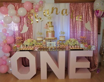 Letter table, marquee letters, custom made letters, handmade marquee letters