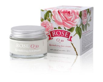 """Revitalizing Face Cream """"ROSE"""" with Q 10 and vitamins А and Е 50 ml, BULGARIAN ROSE"""