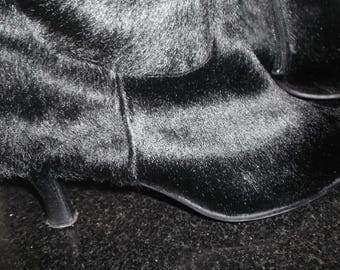 Great boots , pony fur, by Madeleine, Italy, size 9