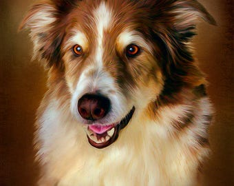 Pet Portraits, Custom Digital Paintings from your Photos