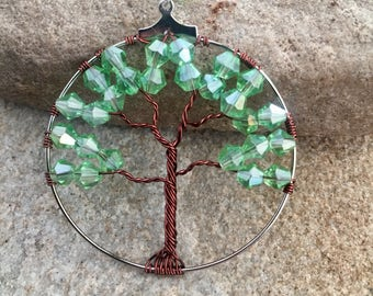 Green Tree Pendant Necklace