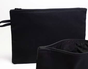 Bag made of Black canvas and black lining