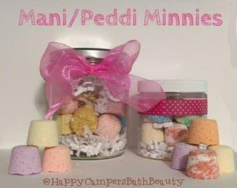 Mini mani/peddi Bath Bomb - Vegan Bath Bomb - Assorted Bath Bomb Colors - Bath Bomb - Made Fresh - Ready To Ship