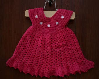 Romantic Fuchsia Baby Dress