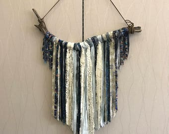 Large Boho Fringe Wall Decor Driftwood Wall Hanging Fabric Wall Art