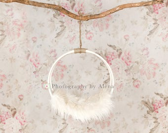 Newborn Photography Floral Swing Digital Backdrop Prop