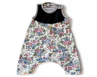 Whole piece girl's cotton / flowers