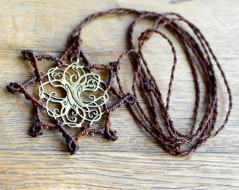 Necklace with sacred geometry