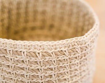 Handmade Linen Storage Basket