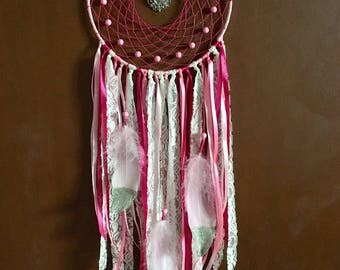 Dream Catcher Pink and White