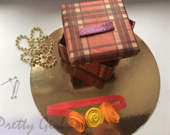 Headband with roses for children