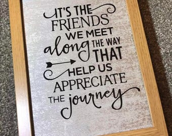 Friends Silver Quote Frame
