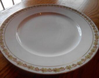 austria bridal  rose bread plate