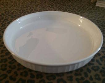 Vintage Corning Ware Pie Pan in French White