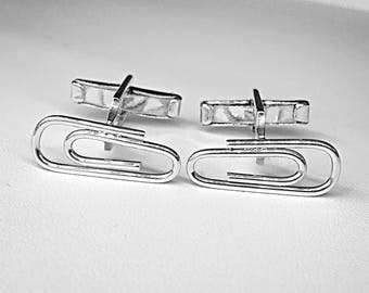 Cufflinks of clip - clip - silver -.925 Silver cuff links cufflinks