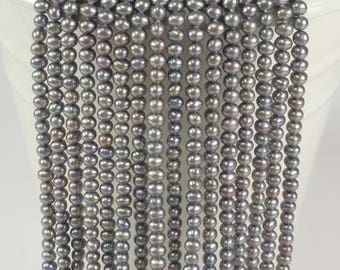 3.5 - 4 mm Potato Freshwater Pearl Light Peach OR Gray Color, Genuine Feshwater Pearl Beads, Small Pearl Beads (103-PPHPK0304)