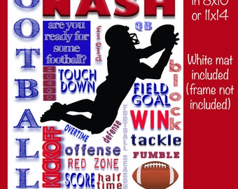 Personalized Football Collage