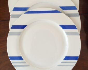 1 Round plate dinner. Collection Duo. hand painted.