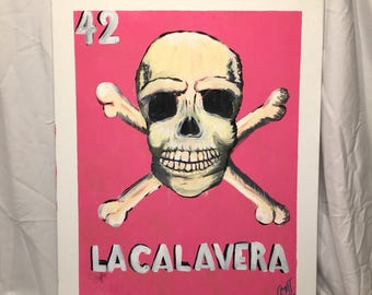 Loteria #42 24x30 Acrylic Painting on Canvas