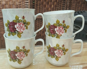 Beautiful vintage luster coffee/tea mugs